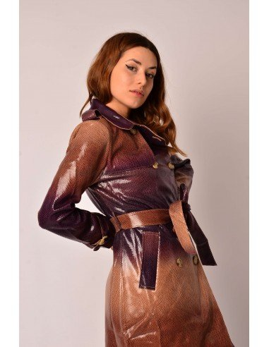 Gabardina iridiscente serpiente purple